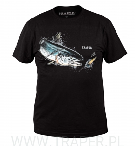 T-SHIRT SALMON BLACK TRAPER