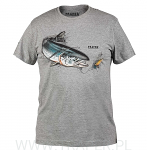 T-SHIRT SALMON GREY TRAPER